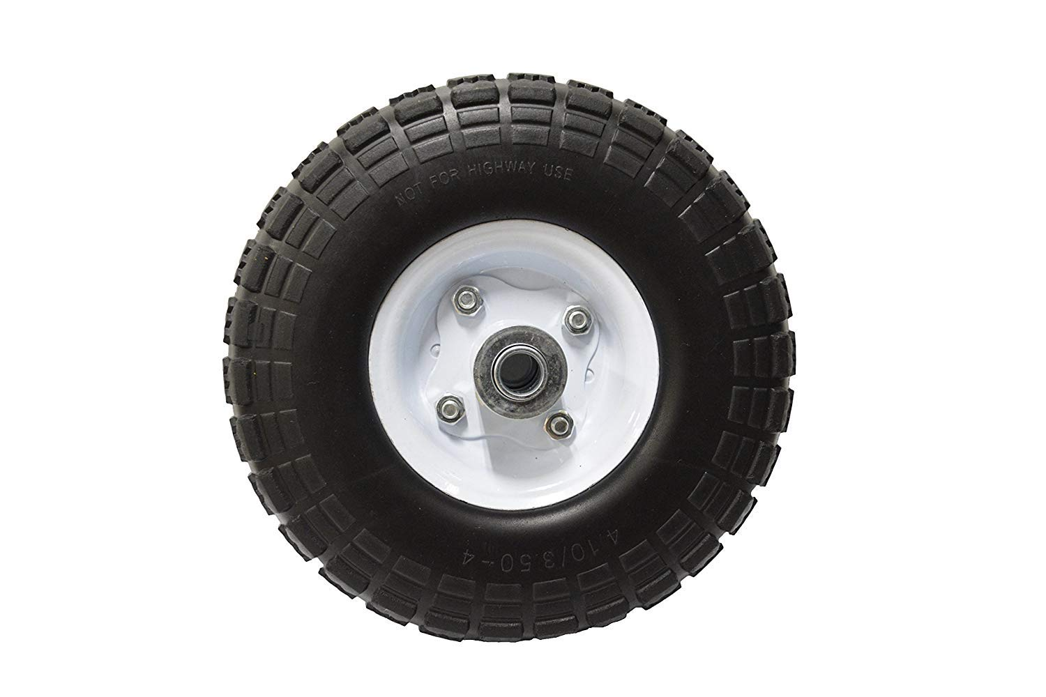 10'' Flat Free Hand Truck Tire and Wheel with 5/8'' Center Shaft Hole