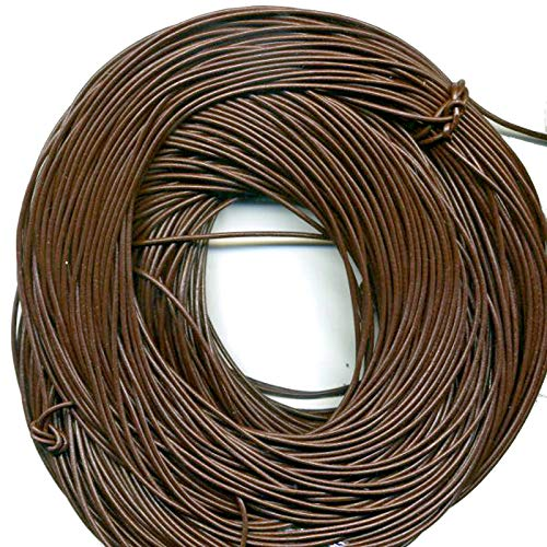 Brown Greek Leather Necklace - 2 mm Brown, Greek Leather Cord, 10 Meter Roll (10.94 Yards)