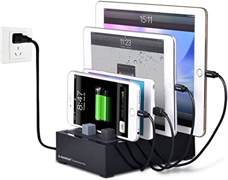 Avantree 4 Puerto Universal Multi USB estación de Carga para ...