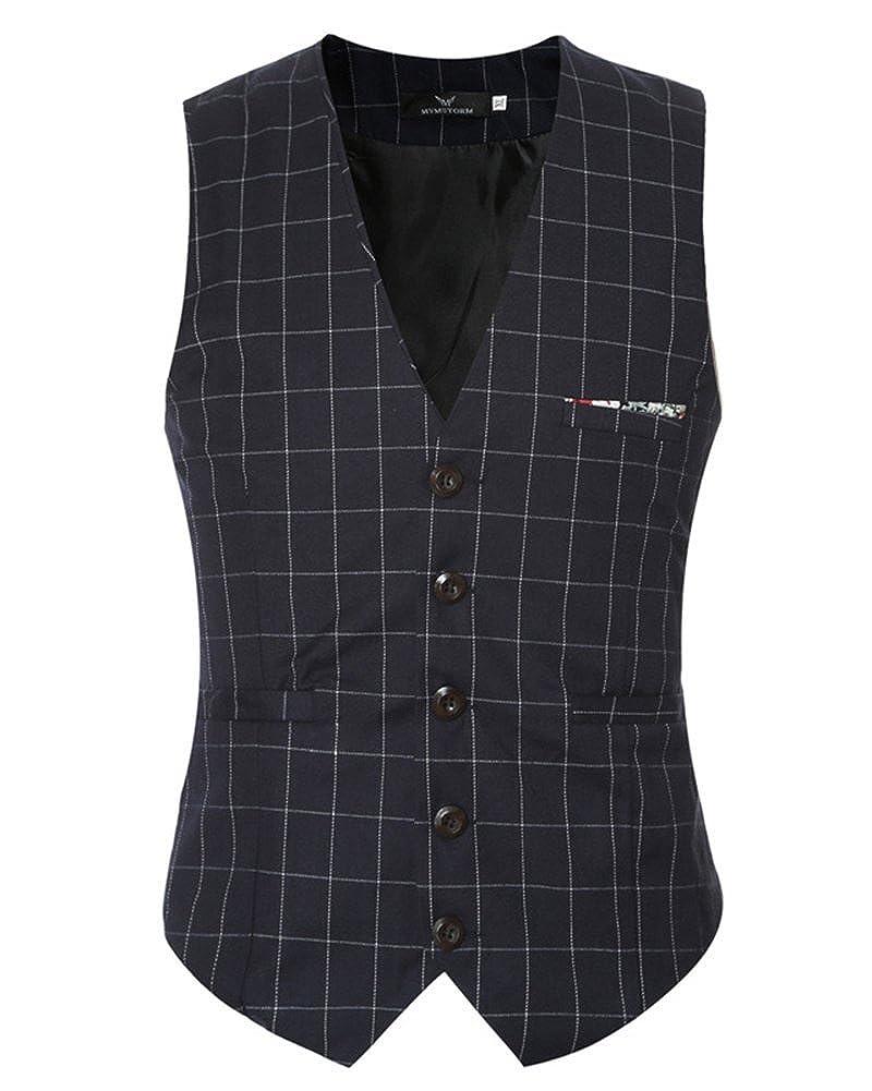 Gilet Homme Veston Classique /à Carreaux Slim Vintage Veste