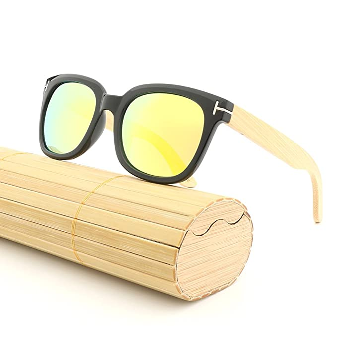 Gafas de sol de madera Lentes polarizadas hombres para gafas de mujer de colores