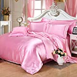 Pink Silk Bedding Luxury Bedding Silk Duvet Cover Set Silk Duvet Cover Silk Pillowcase, King Bedding