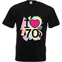 lepni.me Men's T-Shirt I Love 70's Never Forget Old School Band Concert Clothing