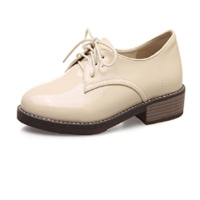 390b24ca981 Spring Women Platform Shoes Woman Brogue Patent Leather Flats Lace Up  Footwear Female Flat Oxford Shoes