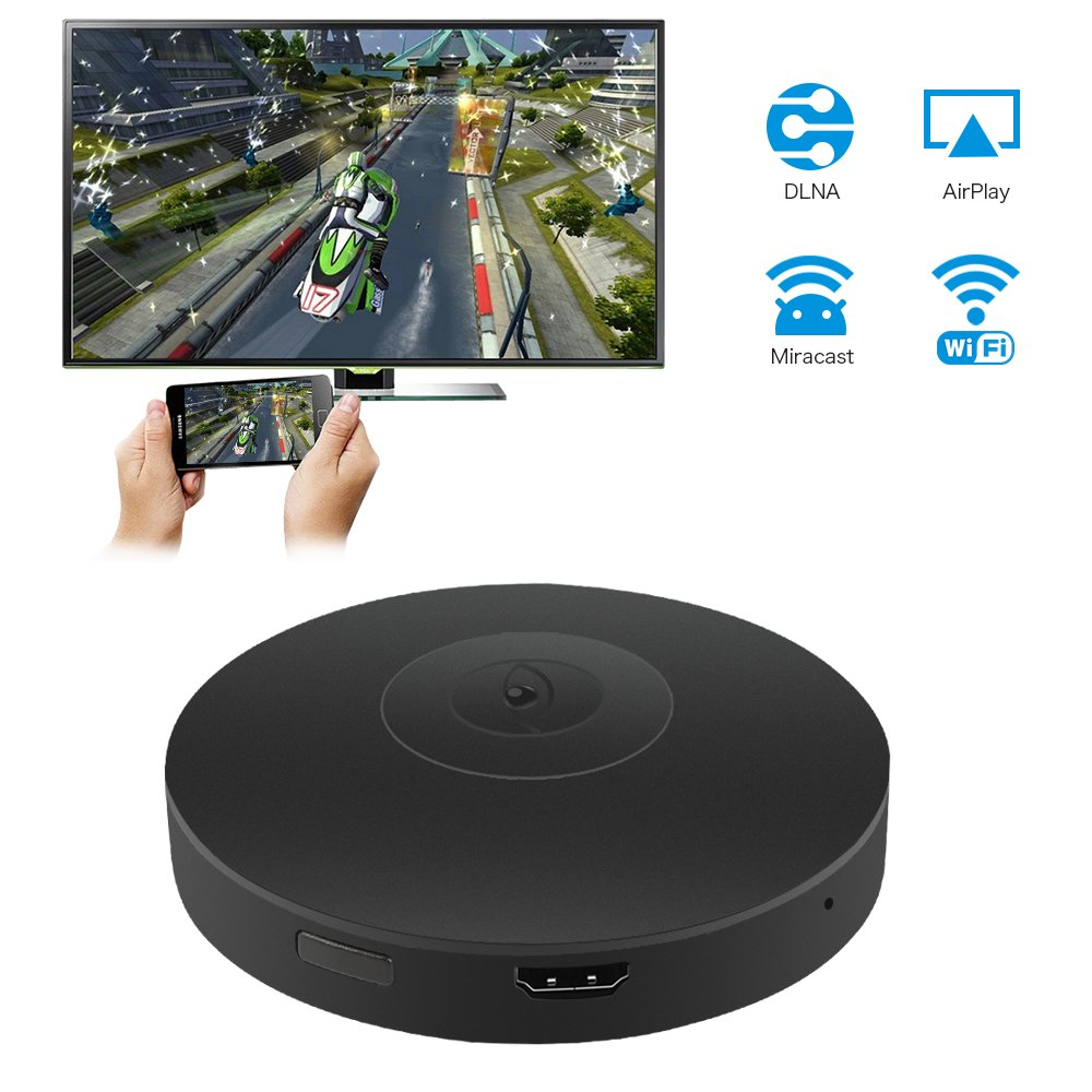 Wifi Display Dongle, ieGeek 2018 Wifi Mini Adapter Display Receiver  Wireless 1080P Full HD HDMI TV Dongle Miracast Airplay DLNA for  IOS/Android,