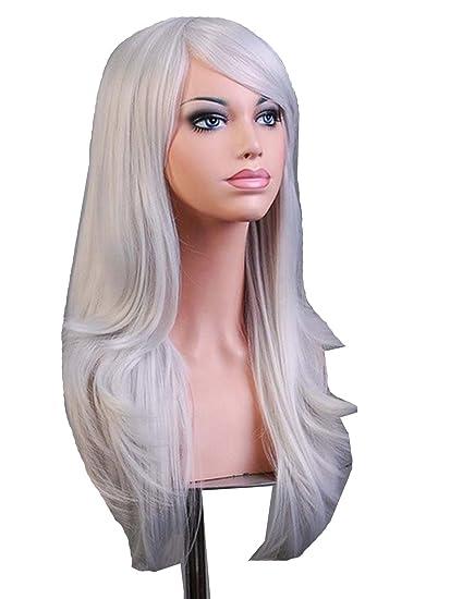 "AMYHOME 28"" 70CM Peluca de pelo largo rizado para mujer cosplay fiesta peluca sintética de"