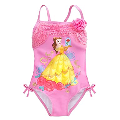 623cab4c74 Amazon.com  Disney Belle Swimsuit for Girls Pink  Clothing