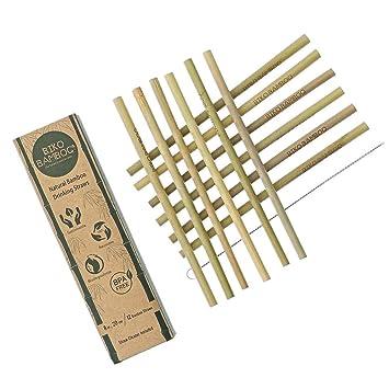 Natural Bamboo Drinking Straws | Eco-Friendly, Sustainable, Bamboo Straws  Reusable - 8 inch Straws