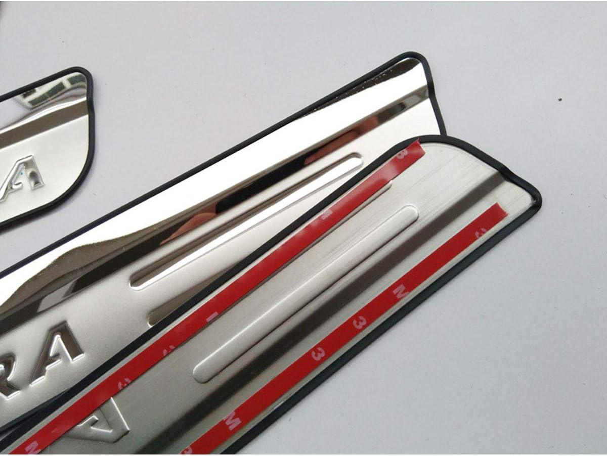 MNBX 4pcs Car Outer Door Sill Protector Kick Plates for Suzuki Vitara 2015-2020 Sticker Trim Non-Slip Stainless Steel Auto Accessories Scuff Guard Threshold Cover Pedal