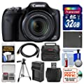 Canon PowerShot SX530 HS Wi-Fi Digital Camera with 32GB Card + Case + Battery & Charger + Tripod + Kit