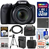 Canon PowerShot SX530 HS Wi-Fi Digital Camera 32GB Card + Case + Battery & Charger + Tripod + Kit
