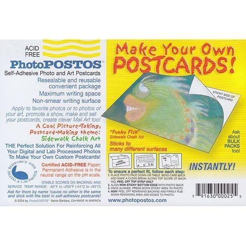 PhotoPOSTOS - Self Adhesive, Acid-Free Postcards - Pack of 300 Postcards