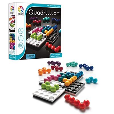 Smart Games Quadrillion-Magnetic Game Grids, Personal Game Board, Fun Brain-Teasing Family Games: Toys & Games