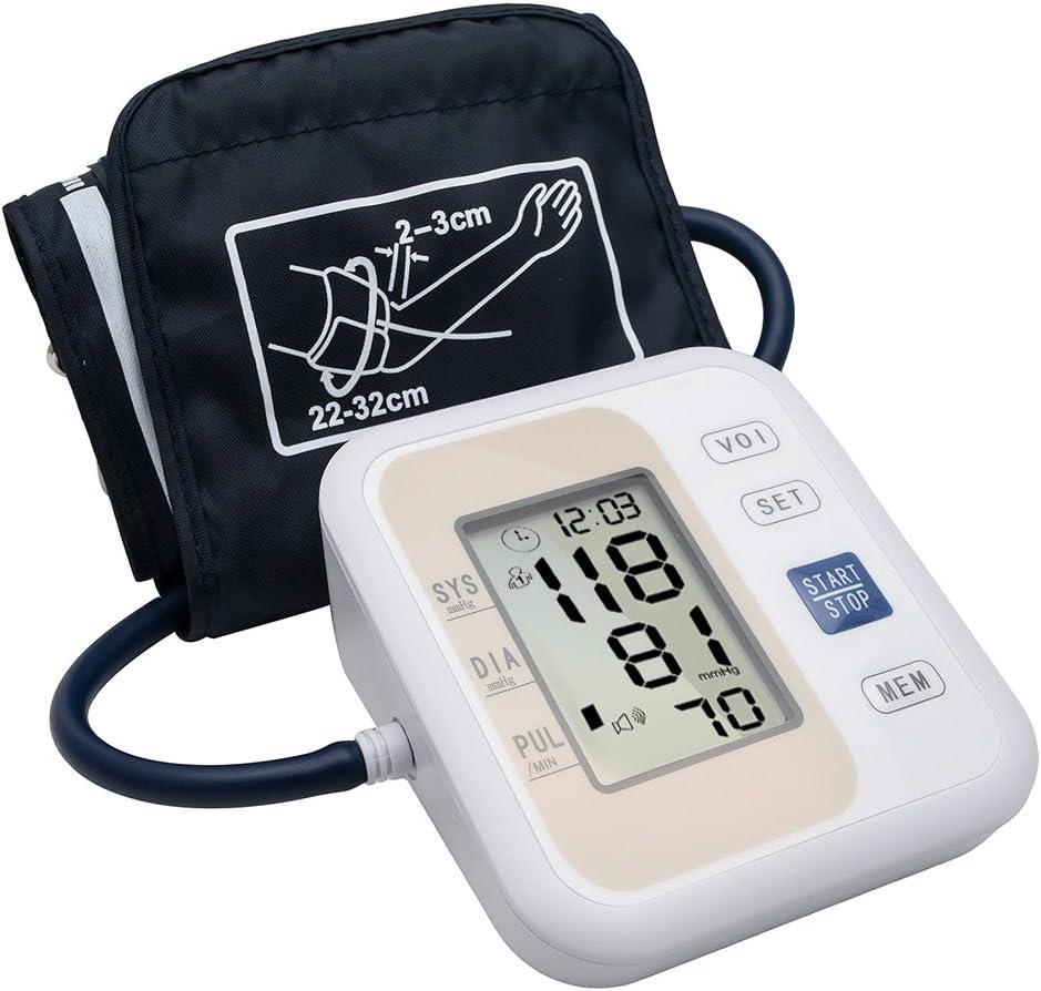 Shyonda Parte Superior del Brazo Monitor de presión Arterial £ ¬ 2 usuarios Modo automático monitores de frecuencia cardíaca de Pulso con Pantalla LCD y Amplia Cuff para Uso en el hogar