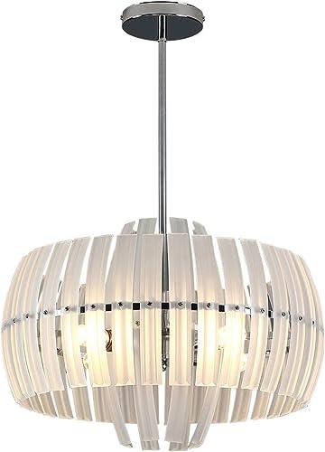 Real Crystal Chandelier Modern Drum Light,23.6″ D x12.5″ H ,Adjustable Heights,Pendant Lighting,4 Light Crystal Pendant Light,Adjustable Height,Polished Chrome,UL Listed