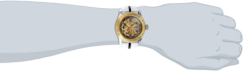 Strap Skeleton Leather Retro Xxiv Akribos Watch Men's Premier Automatic Ak476yg EHWDbe2IY9