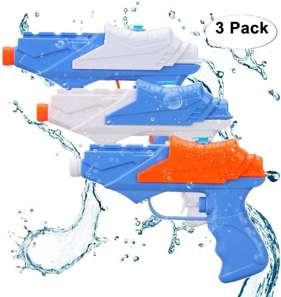 Drei Rohr Wasserpistole Super Soaker Blaster Pistol Squirt Kid