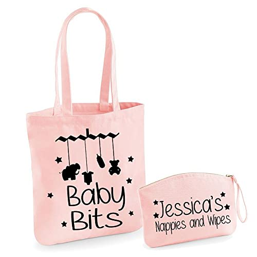 Personalised organic tote bag and pouch set personalised baby bag personalised organic tote bag and pouch set personalised baby bag personalised baby gifts baby bags nappy negle Image collections