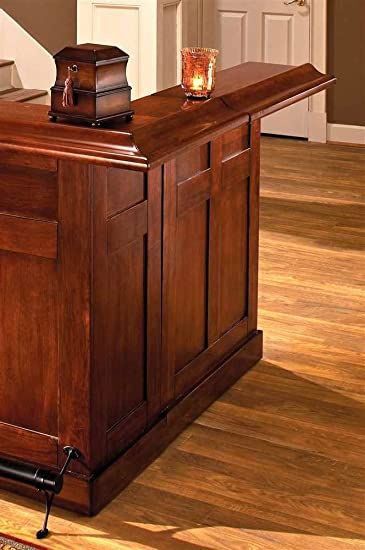 Amazon.com: Hillsdale Classic Side Home Bar in Cherry: Kitchen & Dining