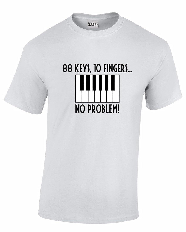 88 Keys - 10 Fingers No Problem Piano Keyboard - Music Fans - Men's T-Shirt