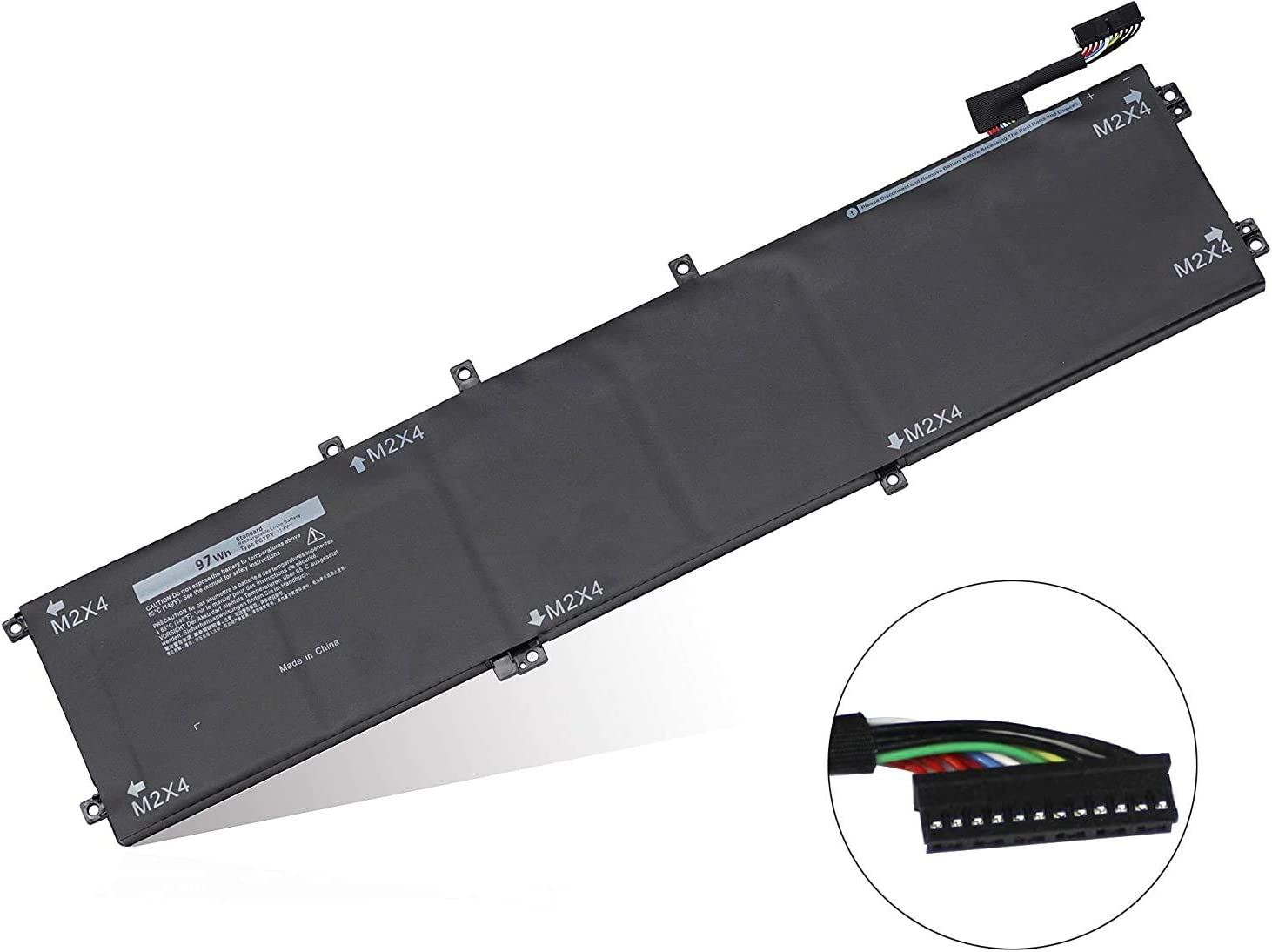 6GTPY Laptop Battery (11.4V 97Wh) for Dell XPS 15 9570 9560 9550 7590 Precision 5530 5520 5510 M5510 M5520 Series 5XJ28 5D91C GPM03