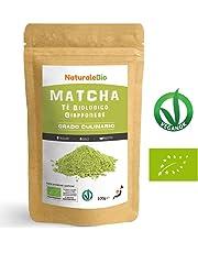 Thé Matcha Bio Japonais de Cuisine [Qualité Culinaire] 100 gr Thé Vert en Poudre 100% Naturel | Thé vert Matcha Produit au Japon Uji, Kyoto | Pour les Pâtisseries, Cookies et dans le Lait