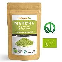 Matcha Tee Pulver Bio [ Cooking-Qualität ] 100 GR   Original Green Tea aus Japan   Japanischer Matcha Ideal zum Smoothies – Shakes - Latte   Tee hergestellt in Japan Uji, Kyoto   NATURALEBIO®