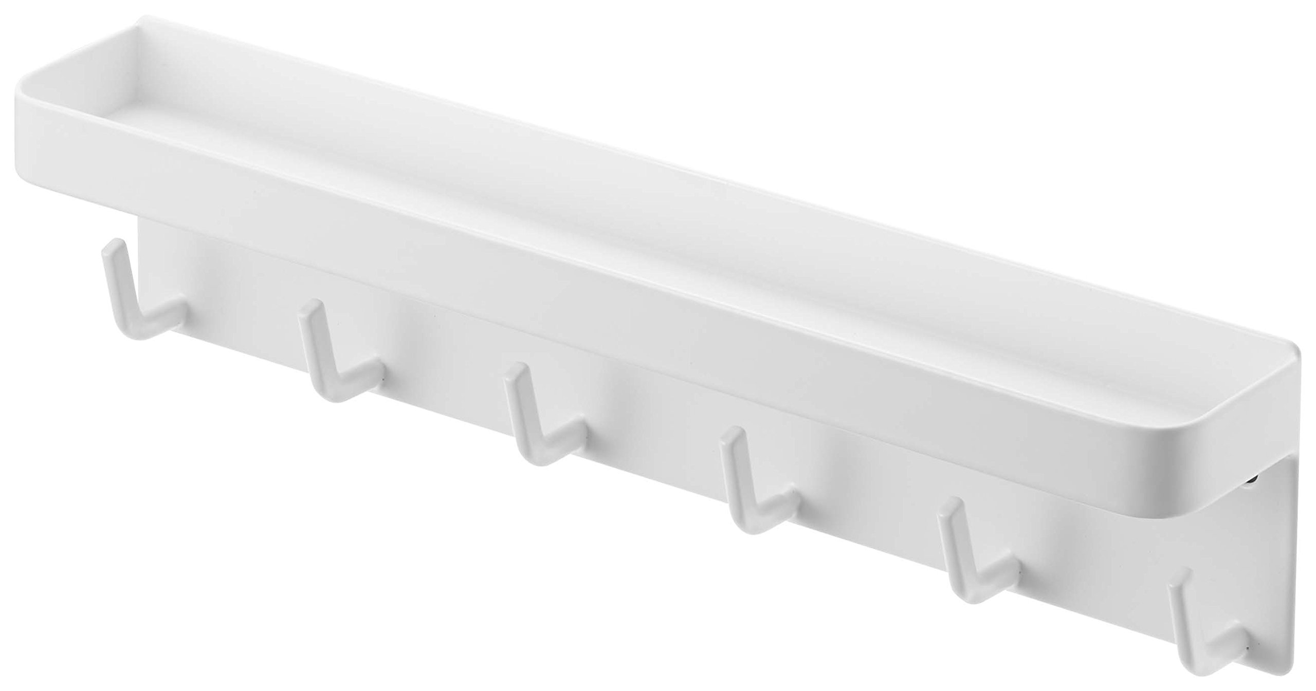 YAMAZAKI home Smart Magnetic Key Rack with Tray, White