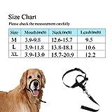 Ohkuu Dog Head Collar, Pet Gentle Leader No Pain No Pull Control Training Leash Adjustable Harness Halter,Nylon