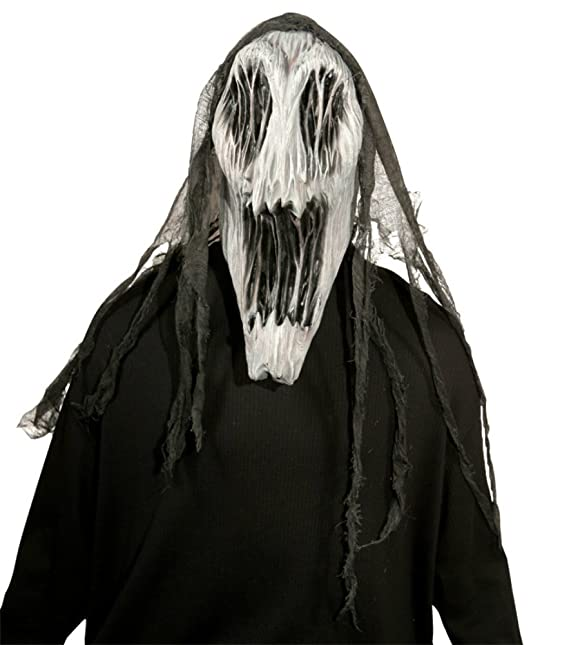 amazoncom gaping wraith scary creepy ghost latex adult halloween costume mask clothing