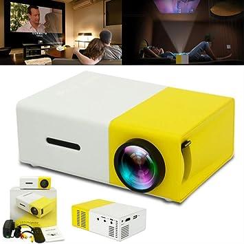 Opinión sobre YG300 Universal 60 Inch HD con Pilas Mini proyector portátil de Bolsillo LED para hogar y Entretenimiento
