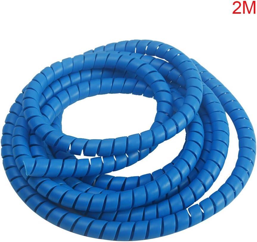 Cleme Funda organizadora de 8 mm con Cable antirrotura y Cable de Alambre para Proteger tuber/ías en Espiral Tama/ño Libre Blanco Negro