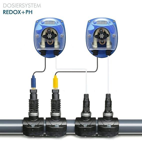 GT Set SEKO CHLOR/REDOX - PH DYNAMIK Pool Automatische Dosieranlage für Schwimmbäder Pool mit Elektroden und komplettem Zubeh