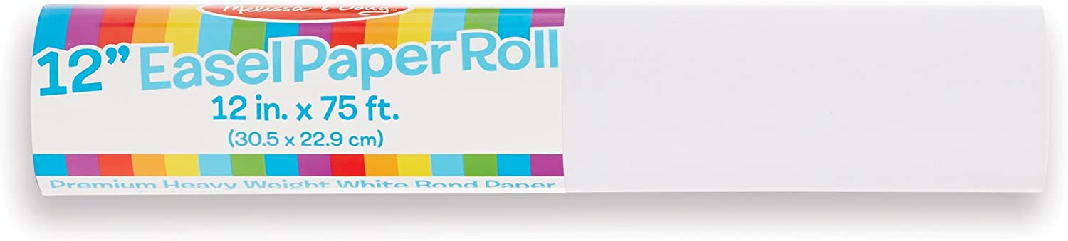 Melissa /& Doug 2-Pack Tabletop Easel Paper Roll 12 inches x 75 feet