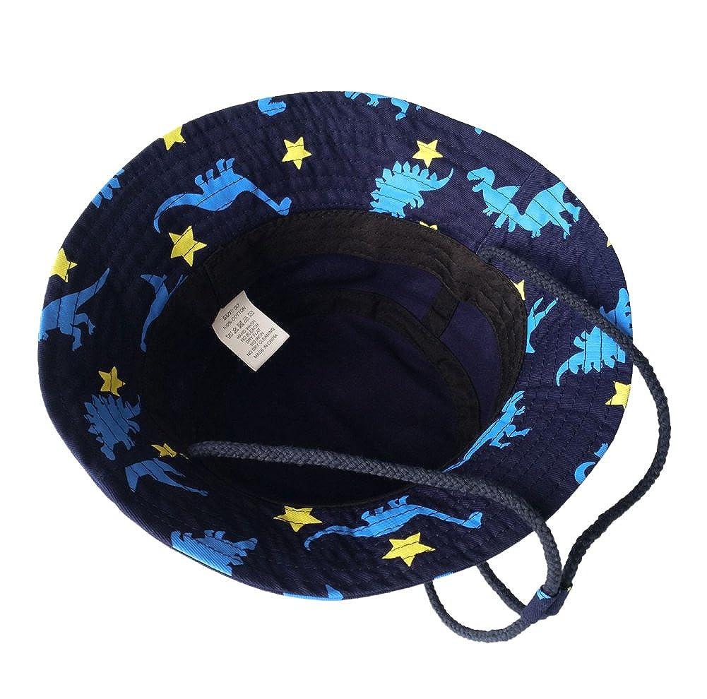 1635e9f84 Minetom Bebé Niño Verano Otoño Dinosaurio De Bucket Sombrero Para El Anti  UV Sol Verano Viaje Playa Gorras para Bebé Niñas  Amazon.es  Ropa y  accesorios