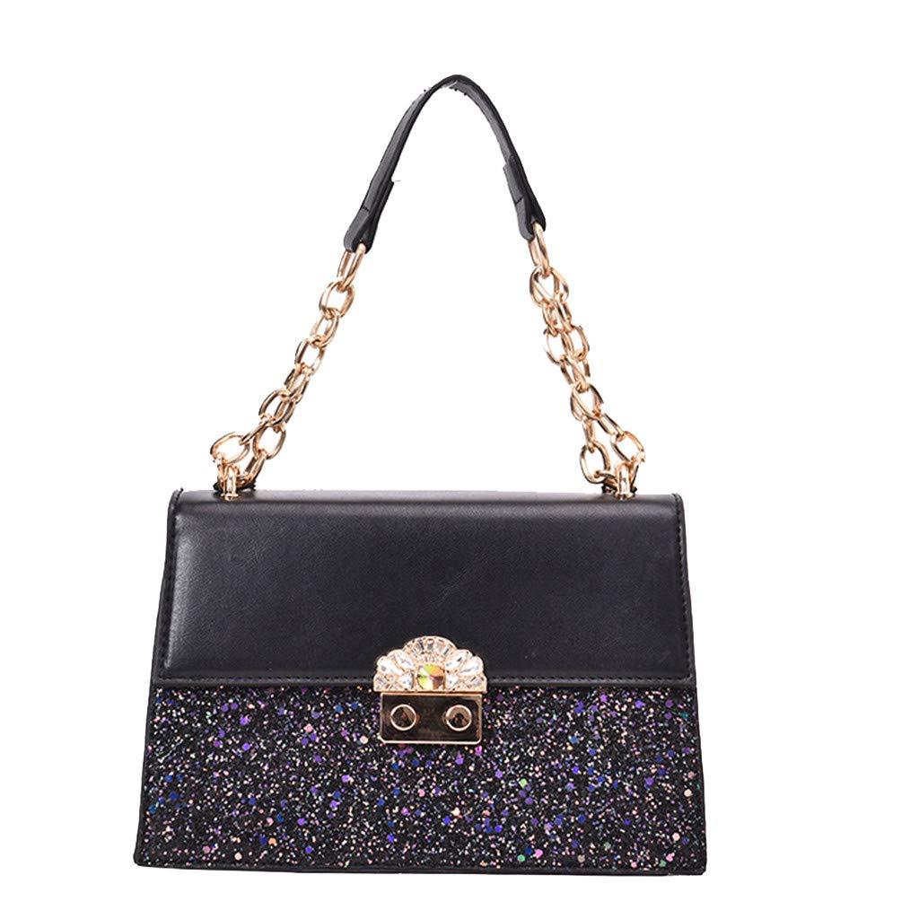 Women Top Handle Handbags Satchel Shoulder Bag Sequins Purse Messenger Bag