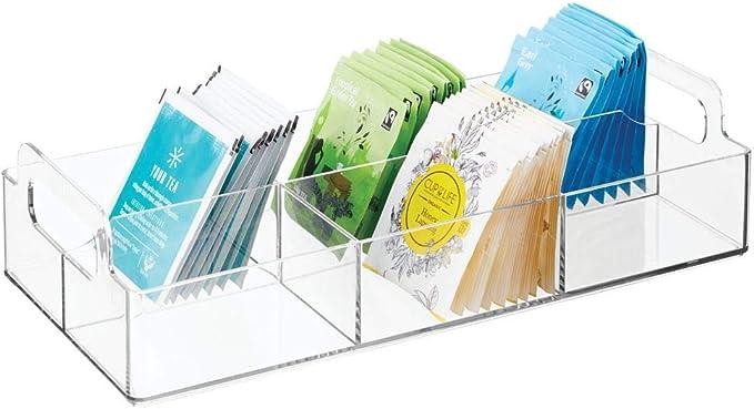 mDesign Organizador de cocina – Práctica caja de almacenaje para ...