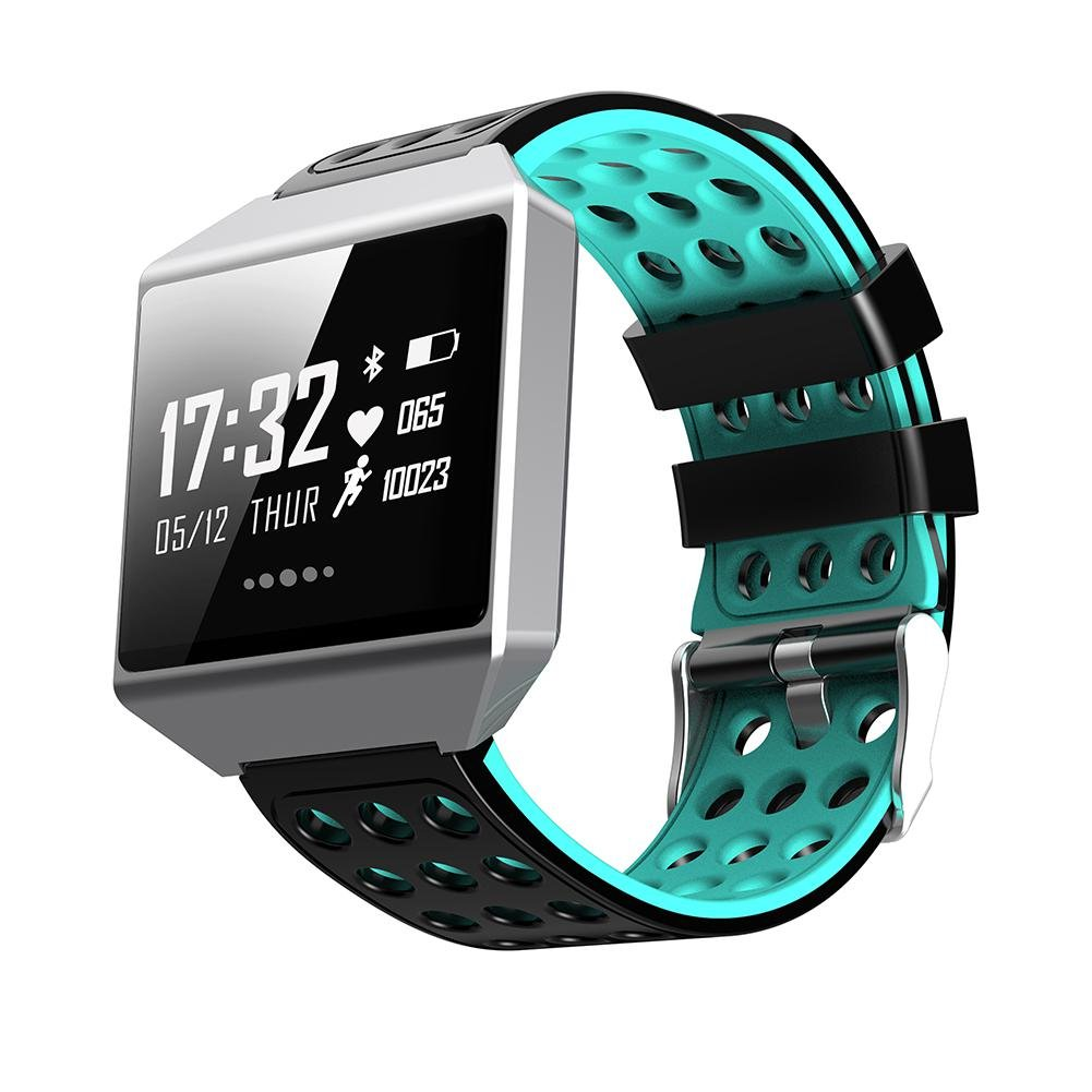 Teepao Fitness Activity Tracker Watch,Large 1.3'' OLED Screen Watchband With Heart Rate Monitor,Blood Pressure,Calorie Counting,Pedometer IP67 Waterproof Smartwatch For Android IOS Phones