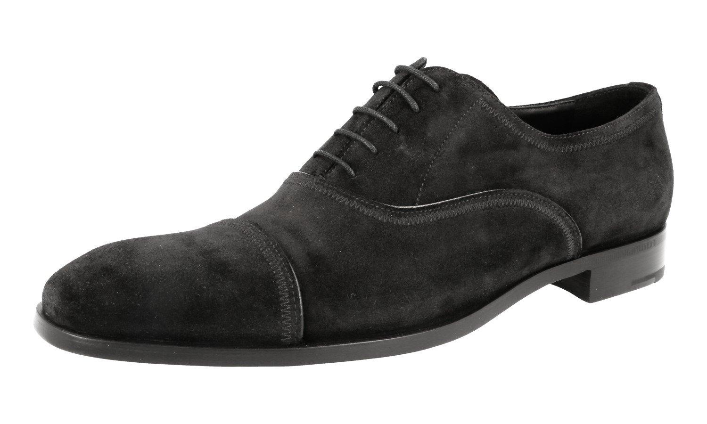 Prada Men's 2EB133 103 F0002 Black Leather Business Shoes EU 9 (43)/US 10
