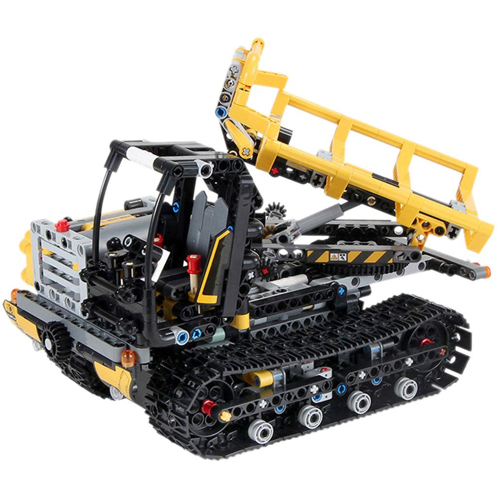 CreazyBee 2.4G Tracked Loader Carrier DIY Building Blocks Brick RC Technic Car Toy (As Show) by CreazyBee