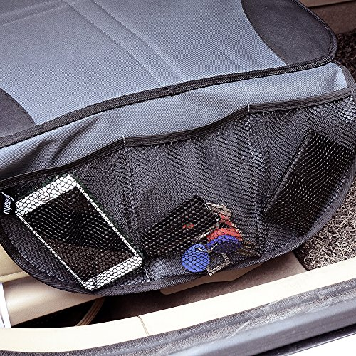 Ohuhu 4 Packs Baby Child Car Seat Protectors and Kick Mat Car Back Seat Cover - 2 Sets Auto Seat Cover for Carseats and Kids Kick Mats with Backseat Organizer Pockets Storage - Perfect for Dog Mats by Ohuhu (Image #3)