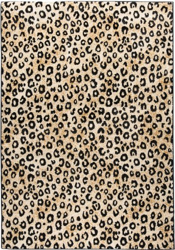 Well Woven Dulcet Leopard Black Ivory Animal Print Area Rug 5' X 7'2'' (Rug Leopard)