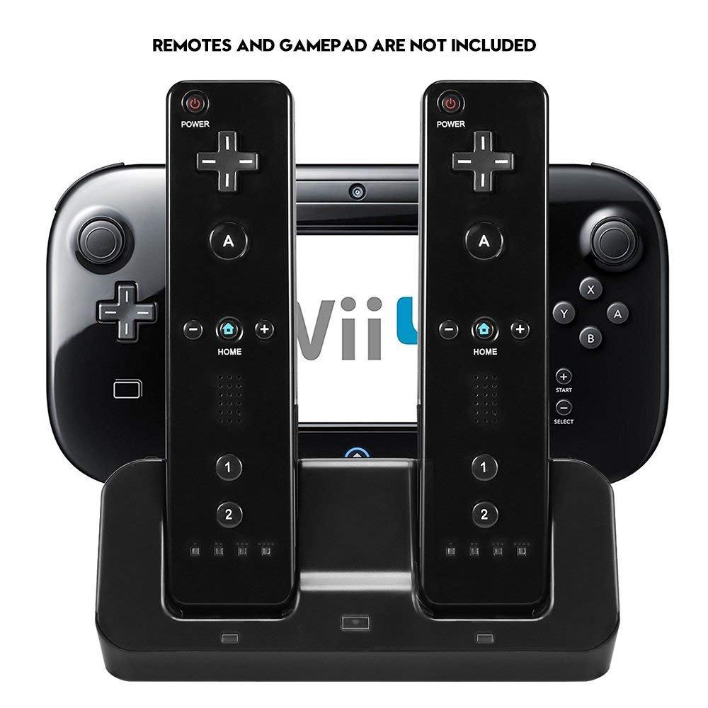 Amazon.com: Cosaux FM23 Cargador de Wii U, Base de carga ...