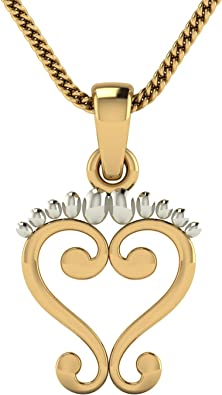 Avsar 18KT Yellow Gold Pendant for Women Pendants