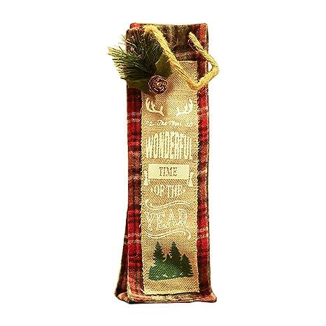Hosaire 1x Bolsa para Botella,Grandioso Navidad Botella de ...