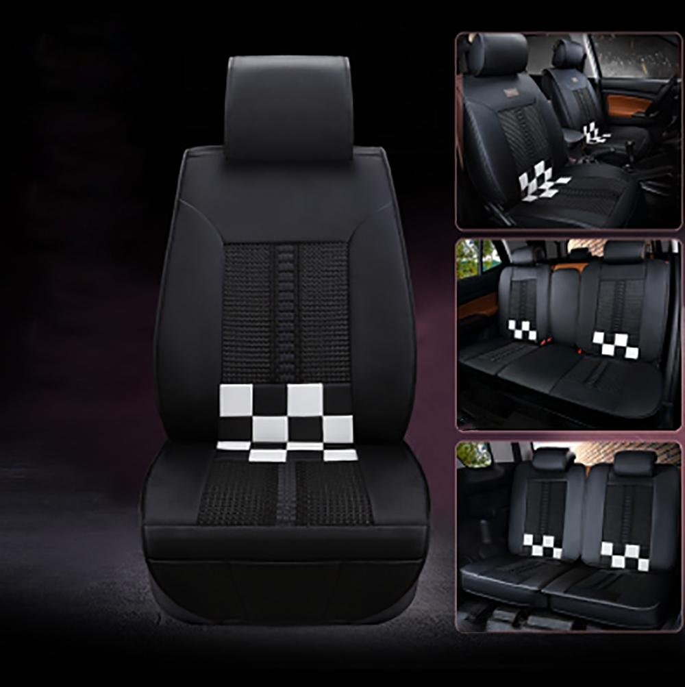 CAR Universal Car Seat Covers 5 Seat Covers Fit Most Cars , black and white