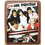 "I Heart One Direction Fleece 1d No-sew Throw Blanket (48"" X 60"")"