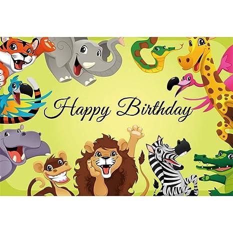 OERJU 3x2m Cumpleaños Fondo Feliz cumpleaños Reino de los ...
