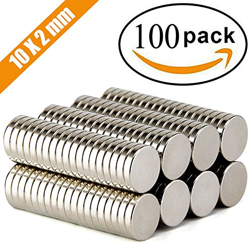 FINDMAG 100Pieces 10X2mm Premium Brushed Nickel Pawn Style Magnetic Push Pins,Fridge Magnets, Office Magnets, Dry Erase Board Magnetic pins, Whiteboard Magnets,Refrigerator Magnets by FINDMAG