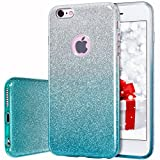 MATEPROX iPhone 6s Plus Case iPhone 6 Plus Case Glitter Slim Crystal Bling 3 Layer Hybrid Protective Case for iPhone 6s/6 Plus 5.5'' (Gradient Green)